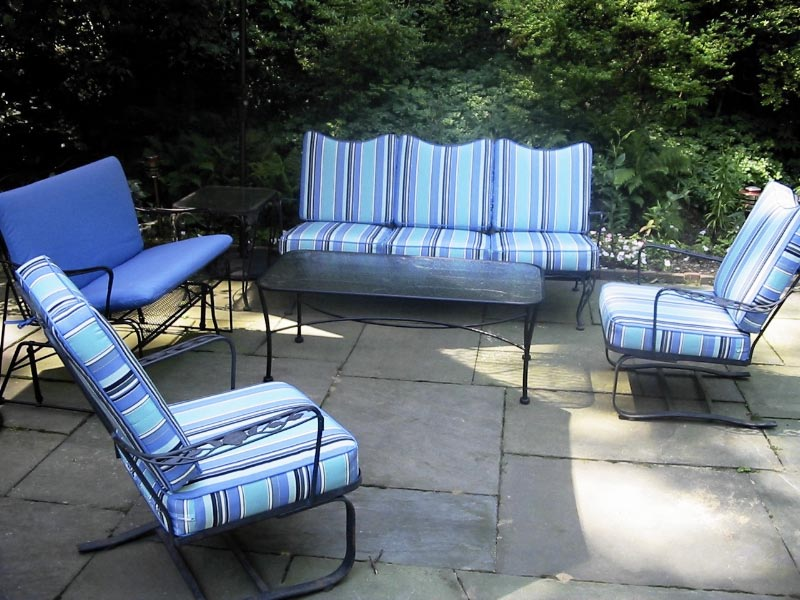 Interesting Wrought Iron Patio Furniture Cushions Image Of