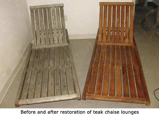 Refinish Teak Furniture Outdoor Furniture Repair
